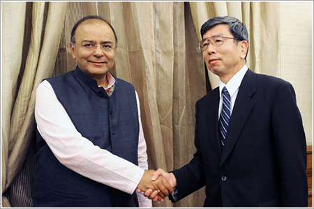 Asian Development Bank (ADB) President Takehiko Nakao met with India's Finance Minister and ADB Governor Arun Jaitley