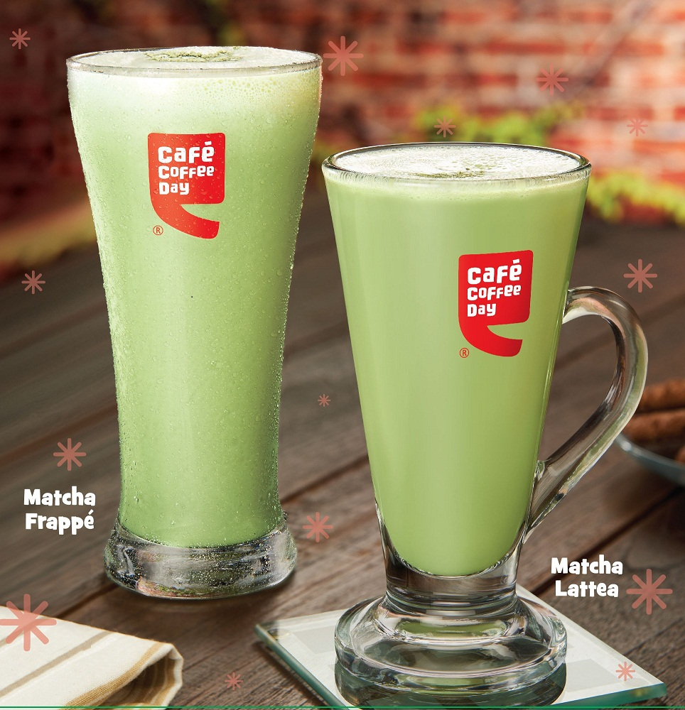 Cafe Coffee Days Latest Chai Fix Matcha Frappe Lattea