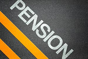 Pension Text Writing Road Asphalt