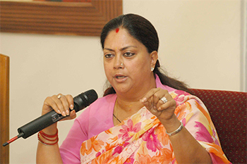 Vasundhara Raje, Chief Minister, Rajasthan