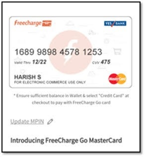 FreeCharge launches most rewarding virtual card 'FreeCharge Go'