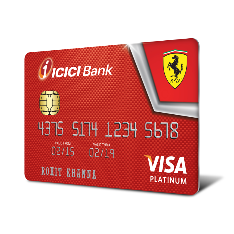 ICICI Bank Launches Ferrari Range Of Credit Cards
