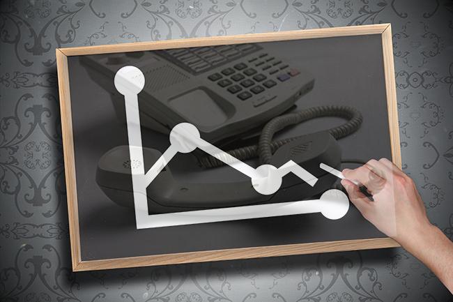 Telecom Stock Down
