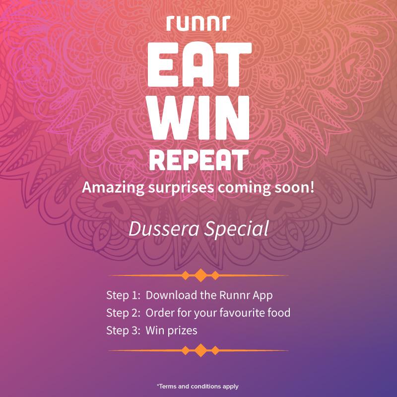 "This festive season ""Eat, Win, Repeat with Runnr"""