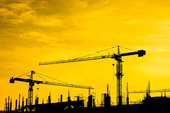 Silhouette of construction