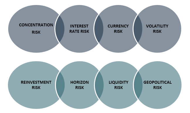 8 specific kinds of market risks