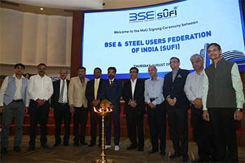 BSE inks MoU with Steel Users Federation of India to allow