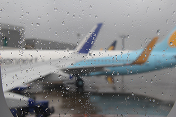 Airport in Rains