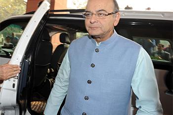 Arun Jaitley arrives at Parliament House