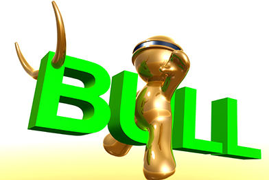 Businessman-icon-with-bull-market-sign