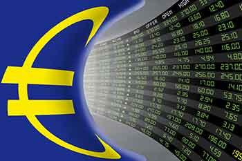 Stocks fall, bonds gain as risks mount; Euro drops